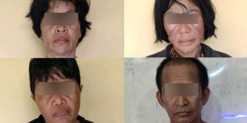 Empat dari enam pelaku yang sudah berhasil diamankan polisi.