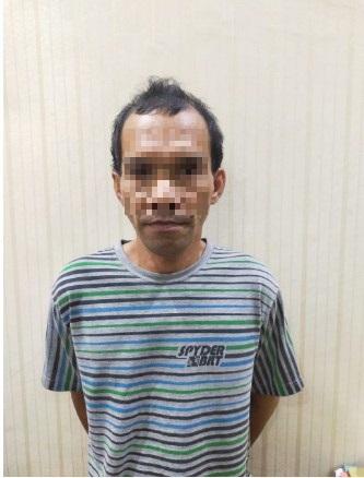 Pelaku MAB alias Alex Bolang sat diamankan Polisi. Foto. Dok. Polisi.