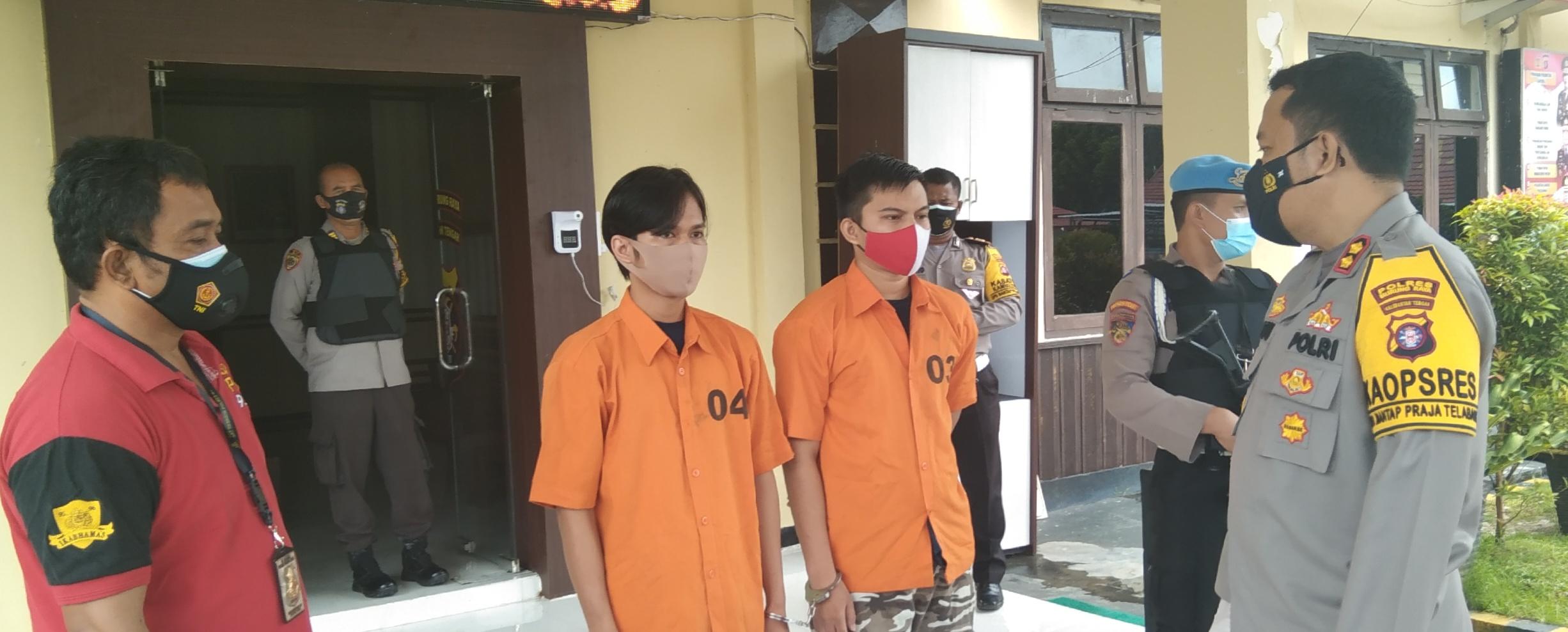 Dua pelaku persetubuhan terhadap anak dibawah umur yang berhasil diamankan Polres Mura
