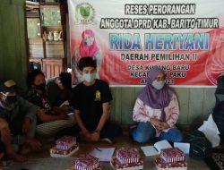 Politisi PKPI Rida Heriyani Lanjutkan Reses di Desa Kupang Baru
