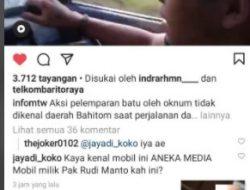 Hati-hati Melintas di Jalan Bahitom, Mobil Pick Up Es Krim Nyaris Celaka, Usai Kaca Mobil Dilempari Batu
