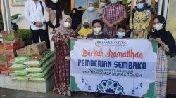 2 Panti Asuhan Dapat Bantuan Sembako dari Bank Kalteng Muara Teweh