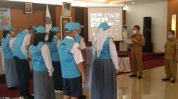 Sekda Murung Raya Hermon mengukuhkan forum anak Daerah kabupaten Murung Raya Masa Bhakti periode tahun 2021-2023, Senin (25/10/2021)