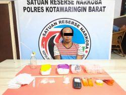 Pengedar 14,59 Gram Sabu Ditangkap Satresnarkoba Polres Kotawaringin Barat