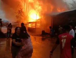 Kios BBM Meledak, Rumah Jabatan Kapolsek dan Asrama Polri Terbakar